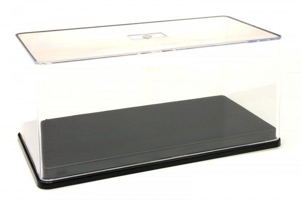 Triple9 Plexiglas-Vitrine/Show Case für 1:43 Modellautos mit 3M Haftpads, schwarze Basis