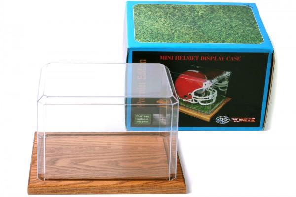 Pioneer Plastics - hochwertige Vitrine aus Acryl zum Sammeln und Verstauen eines Baseballs,Holzboden