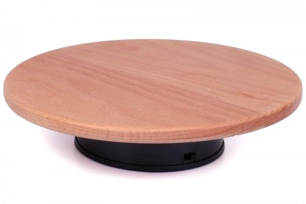 Holz-Präsentationsteller / Drehteller 20cm mit Motor und Netzteil