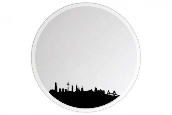 Lindner & Koch Wandspiegel: Hamburg, 30cm rund, gefast mit Wandhalterung