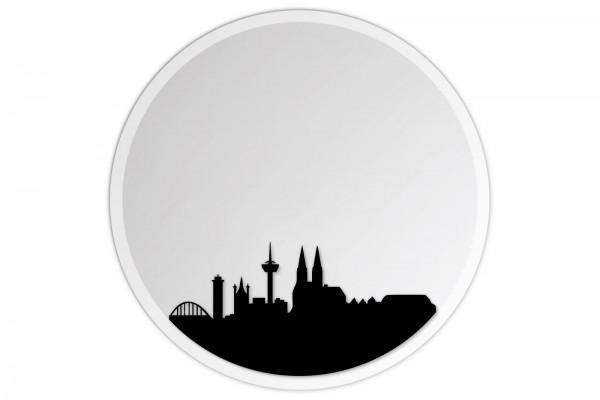 Lindner & Koch Wandspiegel: Köln Cologne, 30cm rund, gefast mit Wandhalterung