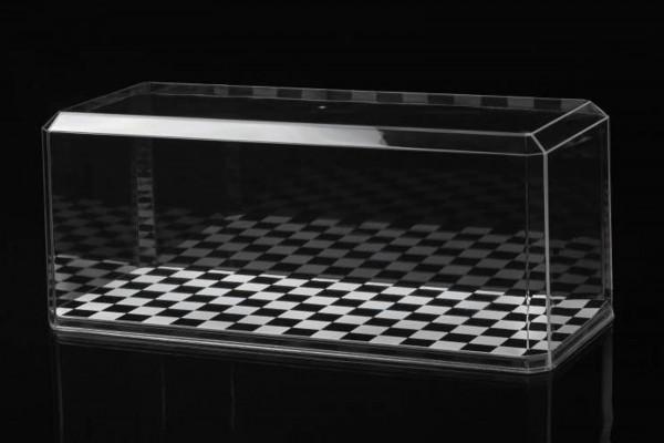Vitrine für Modelle im Maßstab 1:24 mit Schachbrettmuster