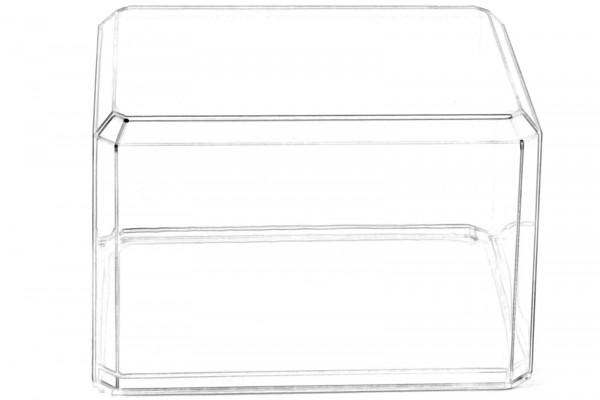 Hochwertige Acryl-Vitrine mit transparentem Boden für bis zu zwei Pop! Sammelfiguren