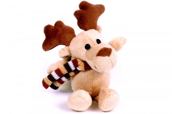 Plüsch Elch mit Schal Weihnachtselch Winterelch