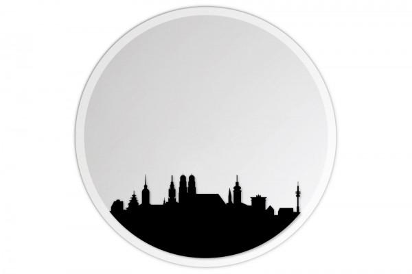 Lindner & Koch Wandspiegel: München Munich, 30cm rund, gefast mit Wandhalterung