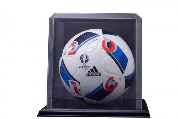 Pioneer Plastics - hochwertige Vitrine aus Acryl zum Sammeln und Verstauen eines Fußballs, schwarz