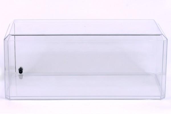 Vitrine für Diecast Modellauto mit LED Beleuchtung, Maßstab 1:18 im XXL-Format, transparenter Boden