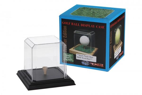Pioneer Plastics - hochwertige Vitrine aus Acryl zum Sammeln und Verstauen eines Golfballs, schwarz