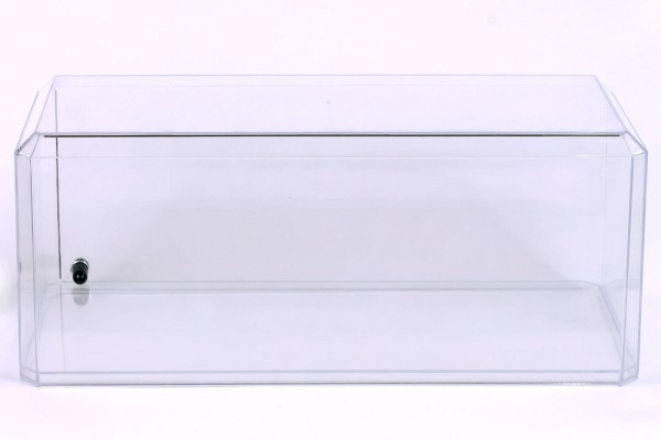 Acryl Vitrine für Diecast Modellauto mit LED Beleuchtung, Maßstab 1:18, transparenter Boden