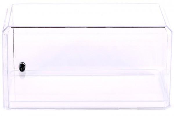 Acryl Vitrine für Diecast Modellauto mit LED Beleuchtung, Maßstab 1:24, transparenter Boden